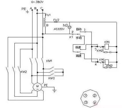 cm6140车床控制电路图